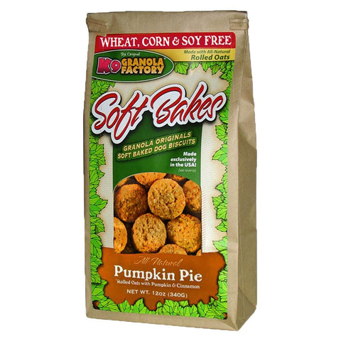 K9 Granols Factory Soft Bakes Pumpkin Pie Dog Treats available at The Hungry Puppy Pet Food and Supplies Farmingdale, New Jersey