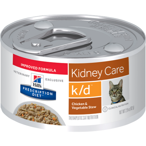 Hills Prescription Diet K/D Chicken & Vegetable Stew Wet Cat Food