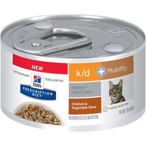 Hills Prescription Diet K/D + Mobility Chicken & Vegetable Stew Wet Cat Food