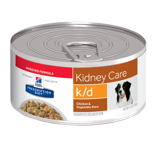 Hills Prescription Diet K/D Chicken & Vegetable Stew Wet Dog Food