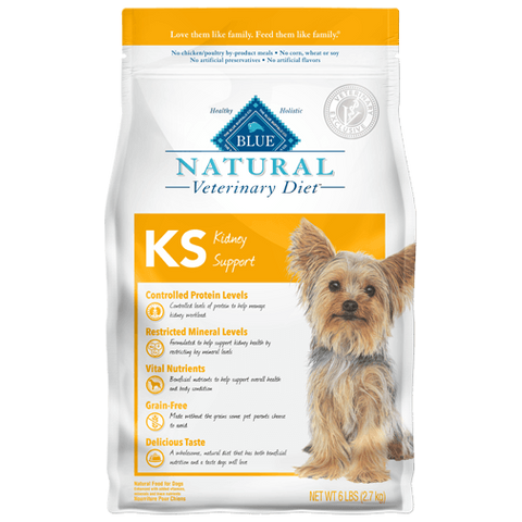 Blue Buffalo Natural Veterinary Diet KS Kidney Support Dry Dog Food