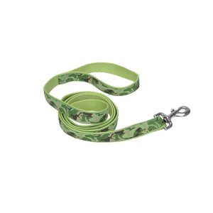 "Coastal Pet Attire Ribbon Designer Leash 6' - 1"" Lime Camouflage"