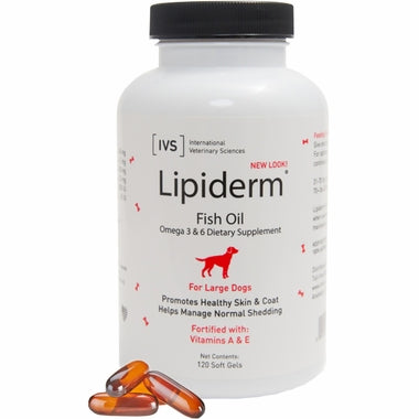 Lipiderm for Large Dogs 120 capsules