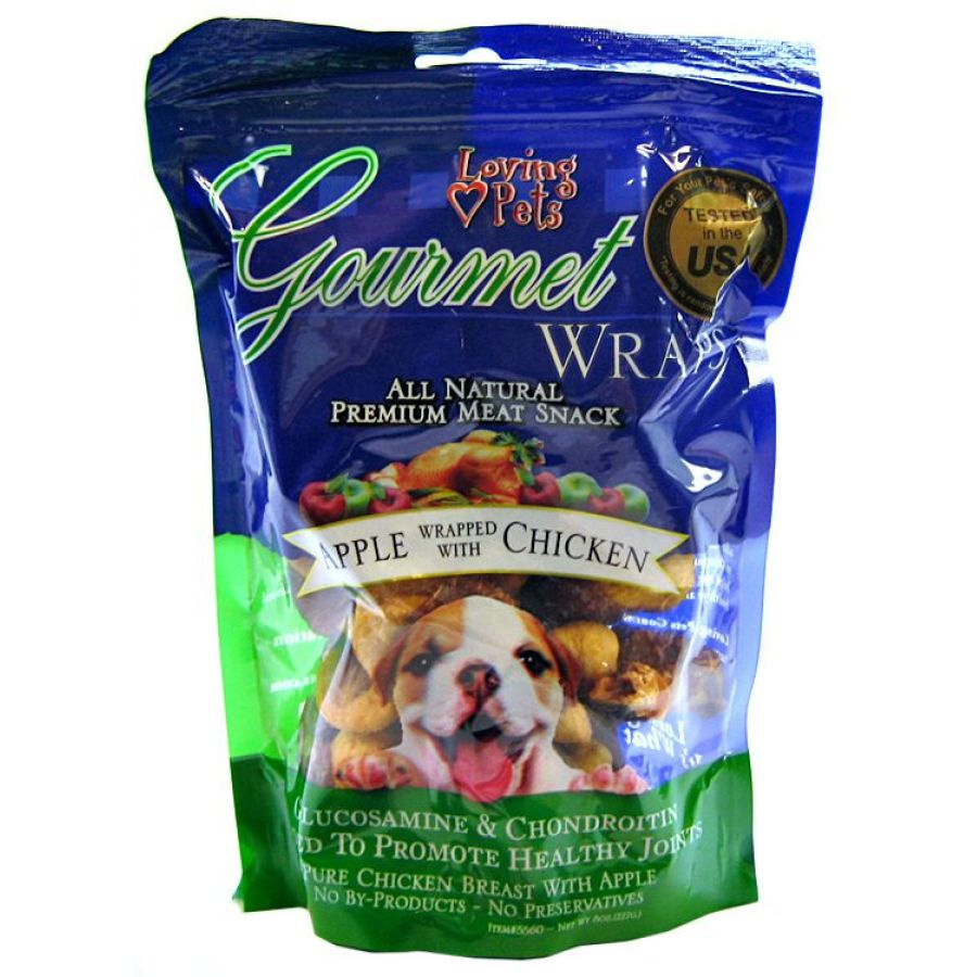 Loving Pets Gourmet Wraps Apple & Chicken
