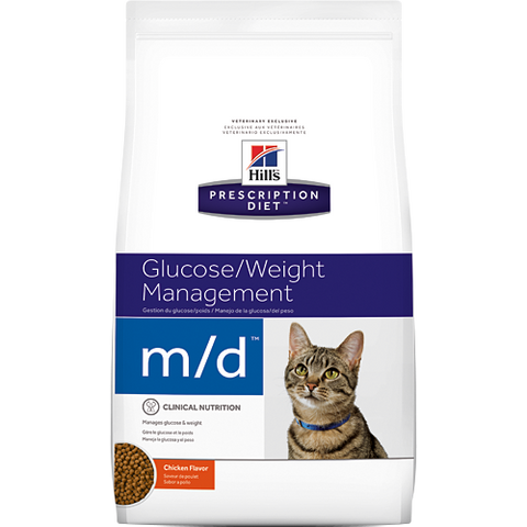 Hills Prescription Diet M/D Chicken Dry Cat Food