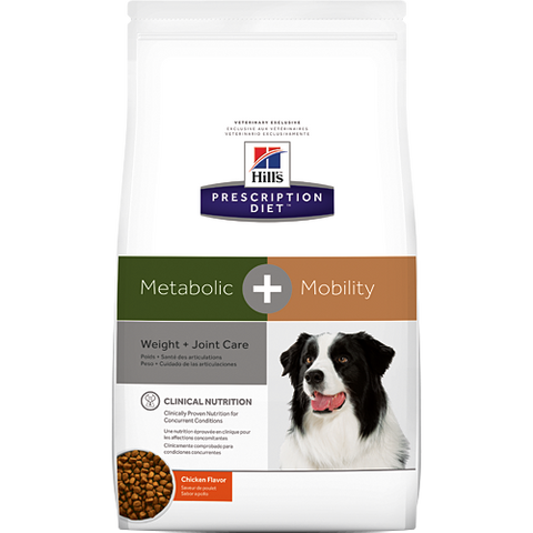 Hills Prescription Diet Metabolic + Mobility Chicken Dry Dog Food