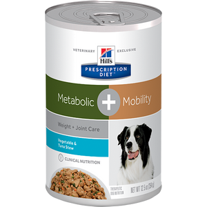 Hills Prescription Diet Metabolic + Mobility Vegetable & Tuna Wet Dog Food