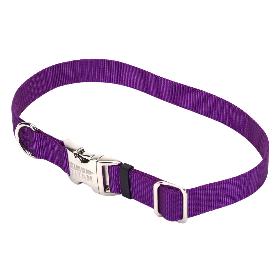 Coastal Adjustable Nylon Collar with Metal Buckle Medium Purple
