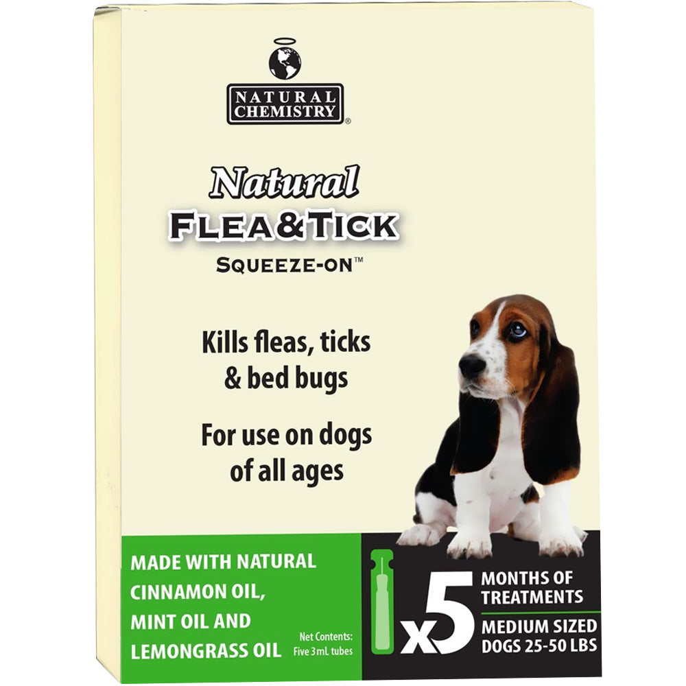 Natural Chemistry Flea and Tick Squeeze On for Medium Dogs