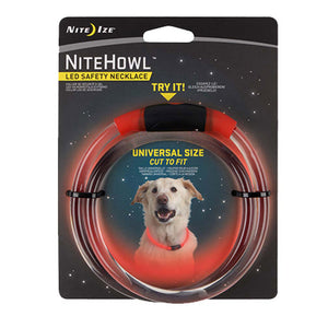 NiteHowl LED Safety Necklace Red