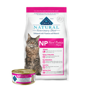 Blue Natural Veterinary Diet NP Novel Protein Alligator Dry Cat Food