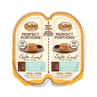 Nutro Perfect Portions Soft Loaf Chicken, Liver & Shrimp Recipe Wet Cat Food