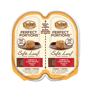 Nutro Perfect Portions Soft Loaf Turkey & Liver Recipe Wet Cat Food