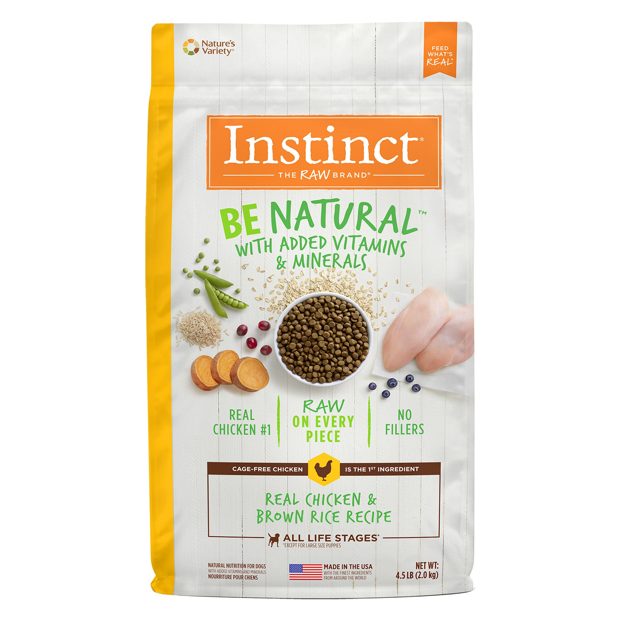 Nature's Variety Instinct Be Natural Chicken & Brown Rice Dry Dog Food
