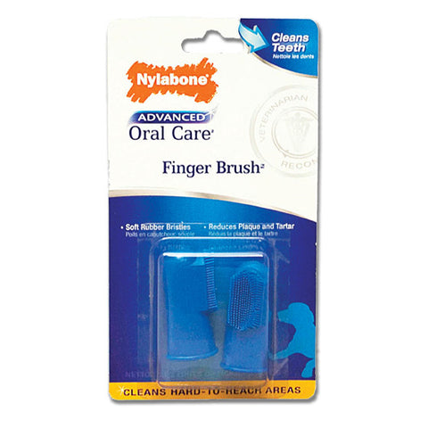 Nylabone Advanced Oral Care Finger Brush 2 pk