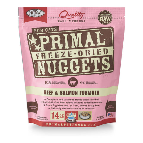 PrimalFreeze Dried Nuggets Beef & Salmon for Cats