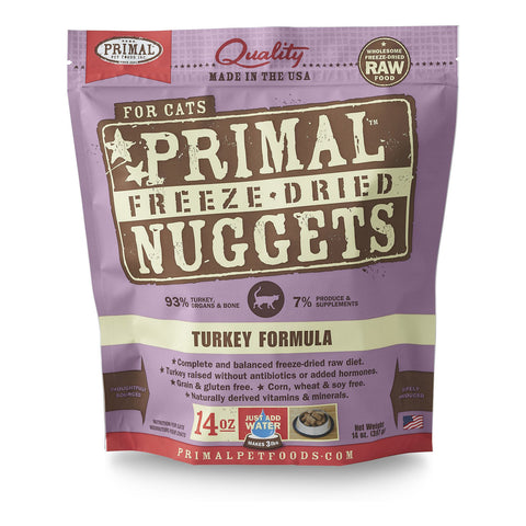 PrimalFreeze Dried Nuggets Turkey for Cats