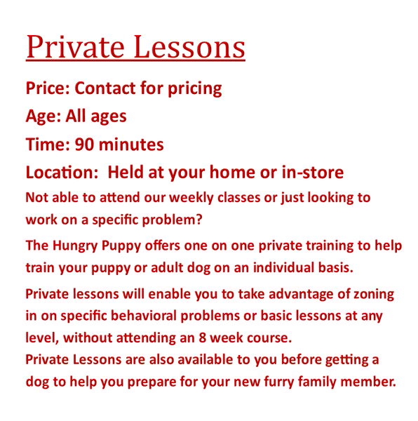 Private Training Lessons