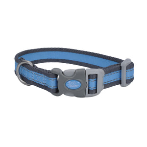 "Coastal Pet Attire Pro Adjustable Reflective Collar 8-12"" - 3/4"" Blue with Gray"