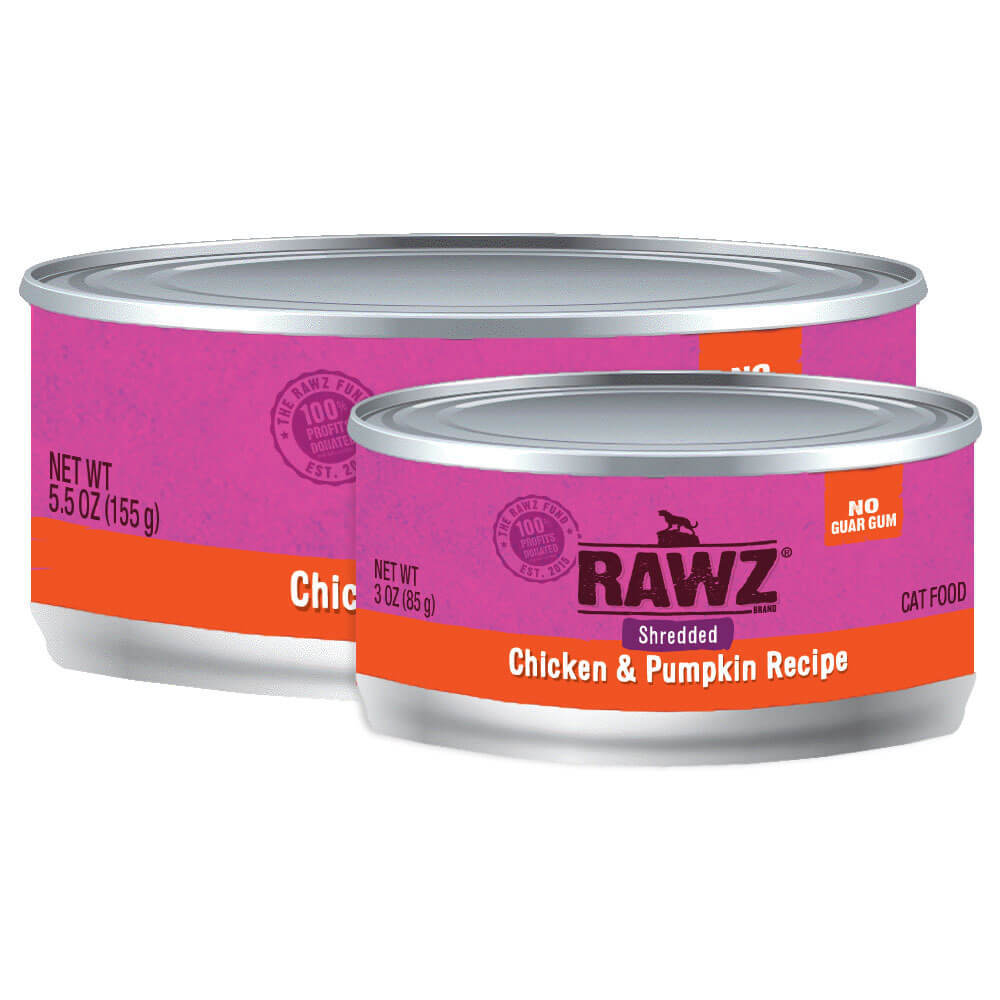 RAWZ Shredded Chicken & Pumpkin Wet Cat Food