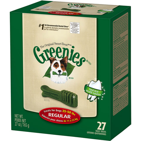 Greenies 27 ct. Regular (for dogs 25-50 lb.)