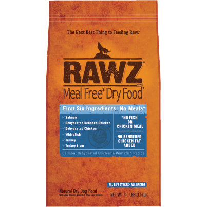 RAWZ Meal Free Salmon, Chicken, and Whitefish Dry Dog Food