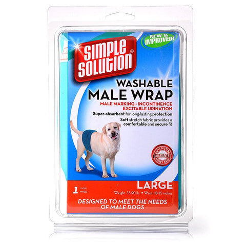 Simple Solution Diaper Garment Male Wrap Large
