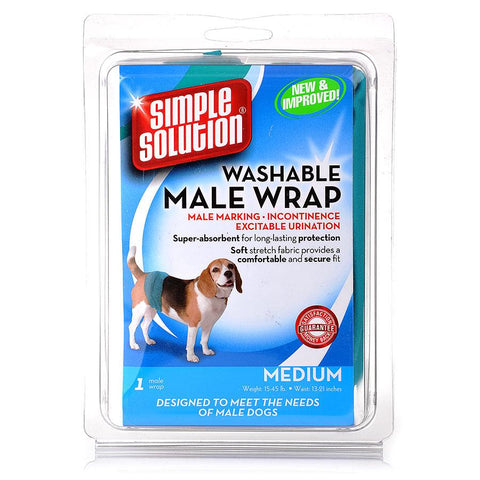 Simple Solution Diaper Garment Male Wrap Medium