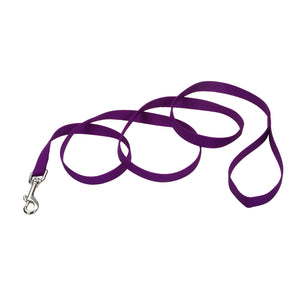 "Coastal Nylon Lead 4' - 5/8"" Purple"