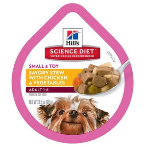 Science Diet 12 pk 3.5 oz. Small & Toy Breed Adult Chicken & Vegetable Stew