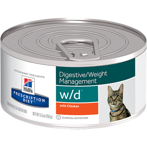 Hills Prescription Diet W/D Chicken Wet Cat Food