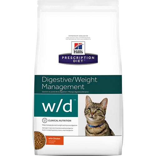 Hills Prescription Diet W/D Chicken Dry Cat Food