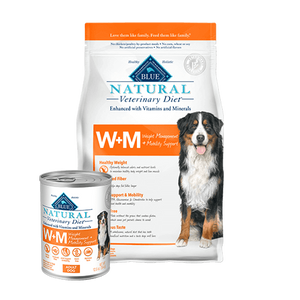 Blue Natural Veterinary Diet W+M Weight Management & Mobility Dry Dog Food