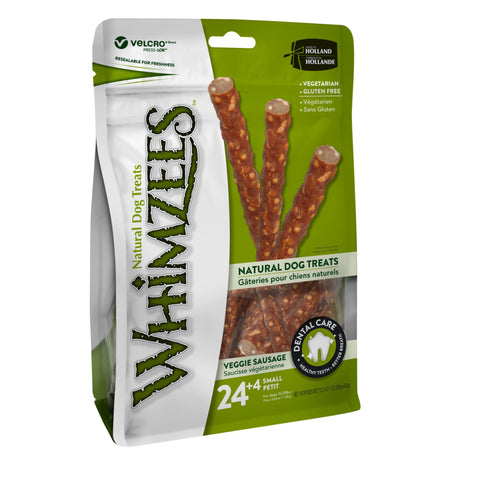 Whimzees Veggie Sausage Value Pack - Small (for dogs 15-25 lbs.)