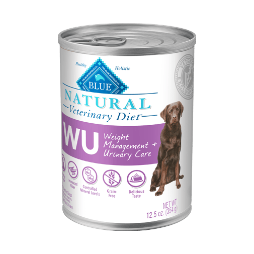 Blue Buffalo Natural Veterinary Diet WU Weight Management + Urinary Care Wet Dog Food