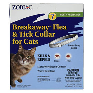 Zodiac Flea and Tick Breakaway Collar for Cats