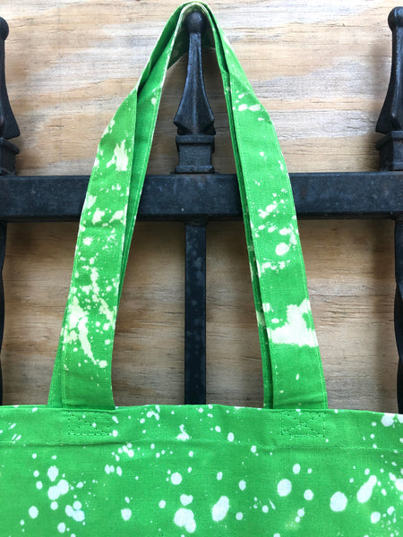 """Lime Green"" Acid Tote bag"