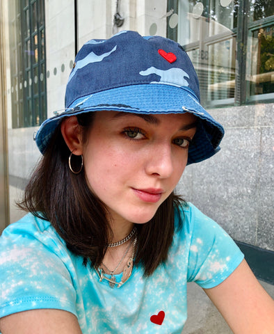 Blue Cow Bucket Hat (Heart edition)