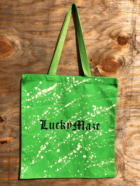 """Lime Green"" Lucky Maze Acid Tote bag"