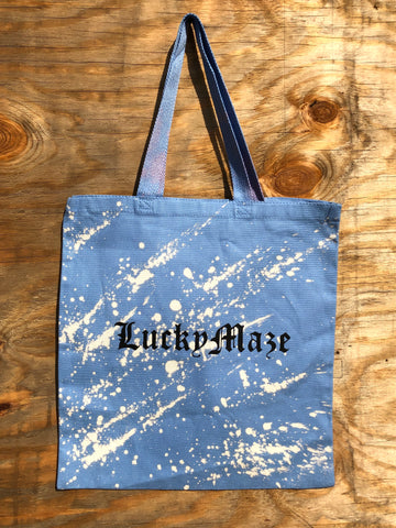 """Sky Blue"" Acid Tote bag"