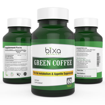 Green Coffee Bean Extract 50% Chlorogenic acid 450mg Veg Capsules