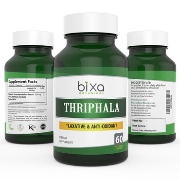 Triphala Extract 40% Tannins 450mg Veg Capsules
