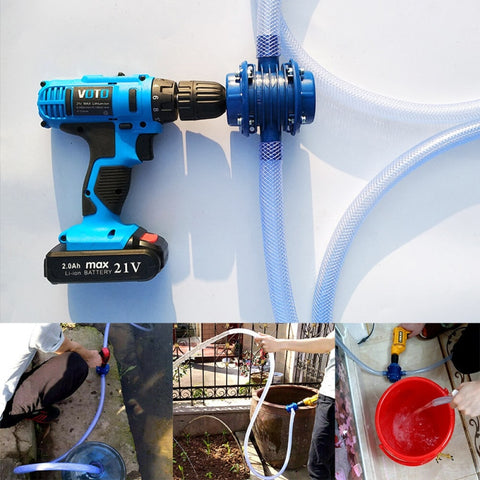 Collage of images showing the Micro Self-Priming Pump's multiple uses