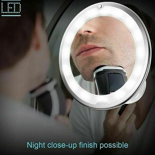 10X Magnifying Flexible LED Mirror