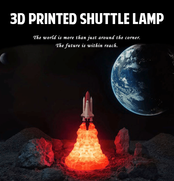 The Orion™ Space Shuttle Lamp