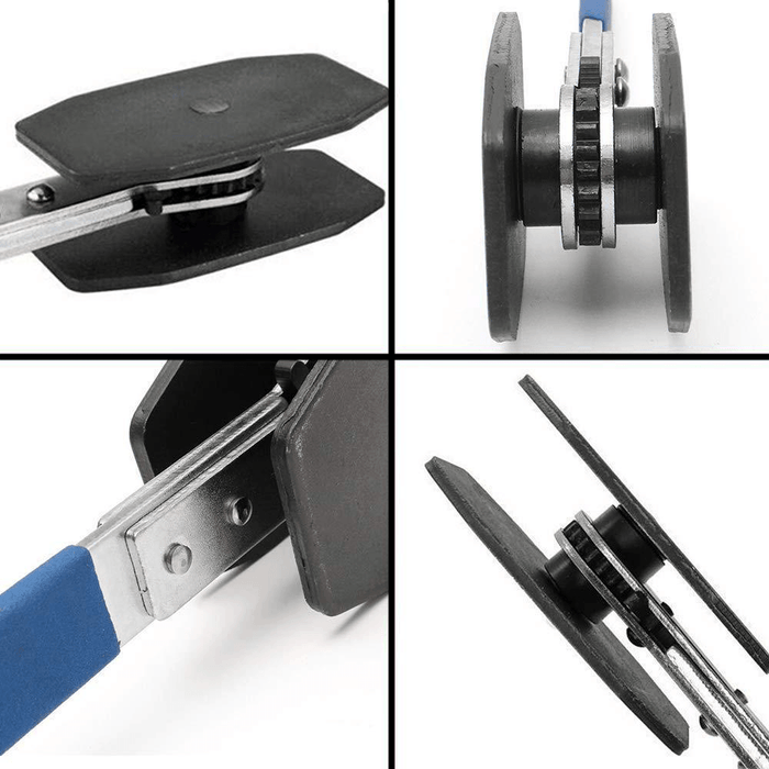 Four images showing different angles of CaliKing™ - Caliper Tool Press