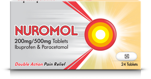 A pack of Nuromol 200/500mg Tablets 24s