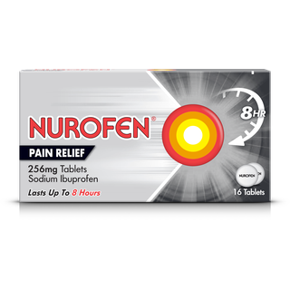 A pack of Nurofen pain relief tablets 256mg