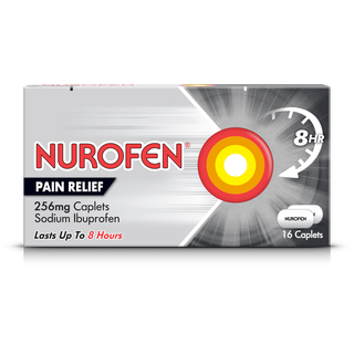A pack of Nurofen pain relief caplets 256mg