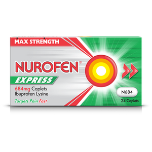 A pack of Nurofen Express 684mg Caplets